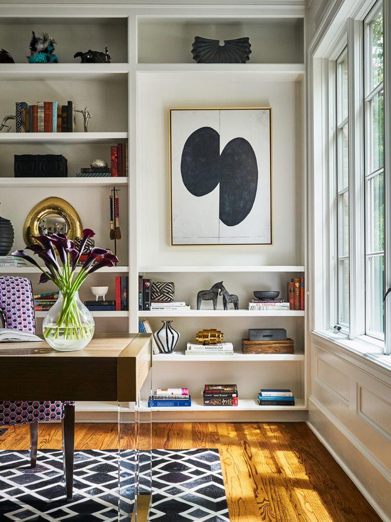 Pulp Design Studios -Eclectic Elegance - Home Office Builtins