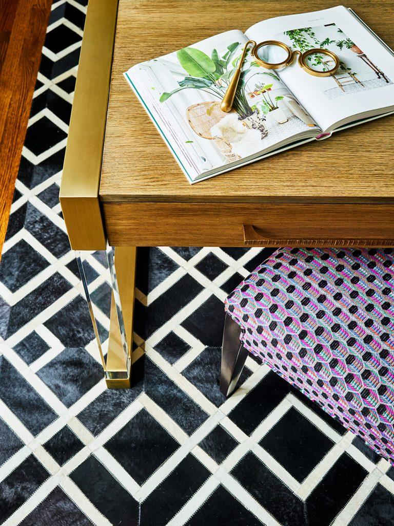 Pulp Design Studios -Eclectic Elegance - Home Office Desk Detail