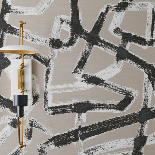 Pulp Design Studios for S.Harris Wallcovering Dresden – Ebonite – Wallcovering