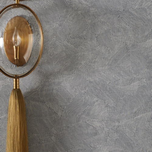 Pulp Design Studios for S.Harris – Heyres – Golden Grey – Wallcovering