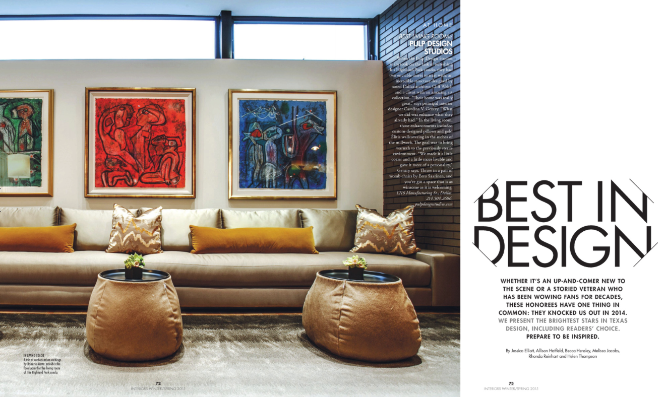 Modern luxury interiors texas best in design pulp design studios for Texas leather interiors dallas